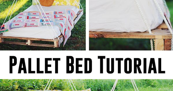 How to make a pallet bed swing -- seems super easy and