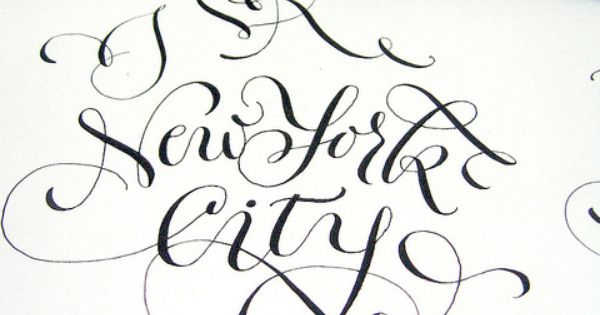 Calligraphy For I Love New York City Project Working
