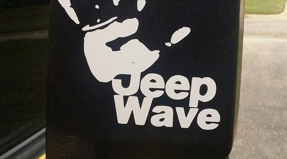 Jeep Wave Vinyl Decal Car Sticker By Personalizepeacock On