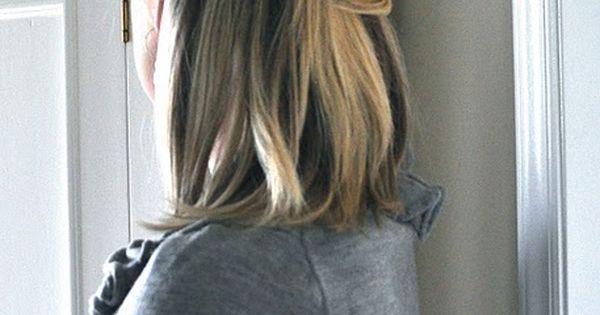 Elegant half back hair tutorial - and bangs tutorial- like her hair