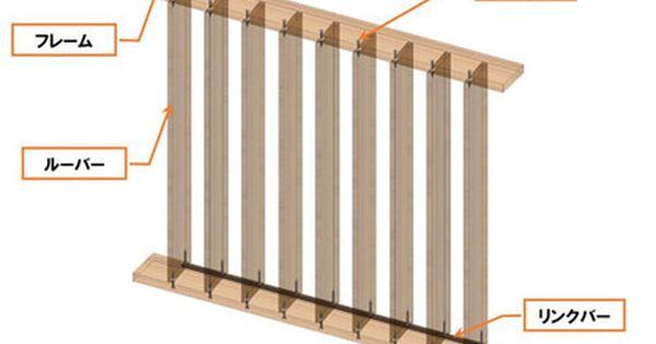 手作り可動目隠しルーバー フェンスの構造3d Cad図面です ルーバー ルーバーフェンス 収納 アイデア