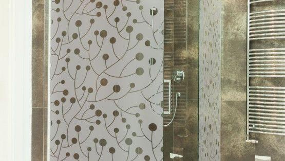 Sticker Paroi De Douche Occultant Branche A Baie Decoration Salle De Bain Gali Art Paroi De Douche Douche Paroi