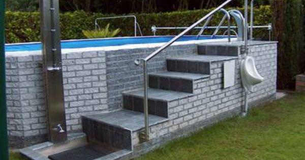 Piscina sobre el nivel del 400 299 terraza for Piscinas sobre suelo