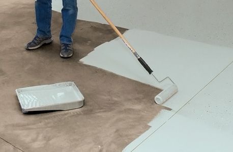 How To Paint A Floor If You Are Interested In Painting A Floor Please Read The Information At Painted Concrete Floors Painting Concrete Painted Floors