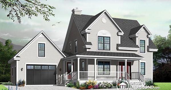 maison de style fermette avec grand garage possibilit d 39 un bureau domicile ou 4e chambre et. Black Bedroom Furniture Sets. Home Design Ideas