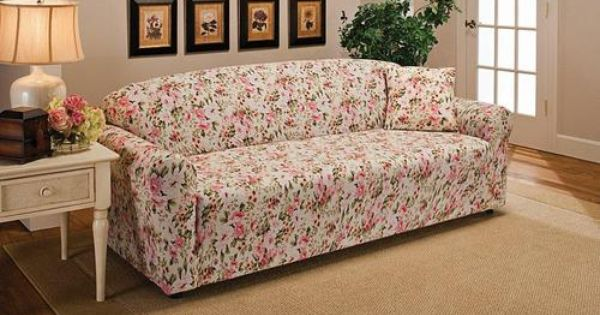 Pink Floral Sofa Couch Slip Cover Loveseat Chair Recliner