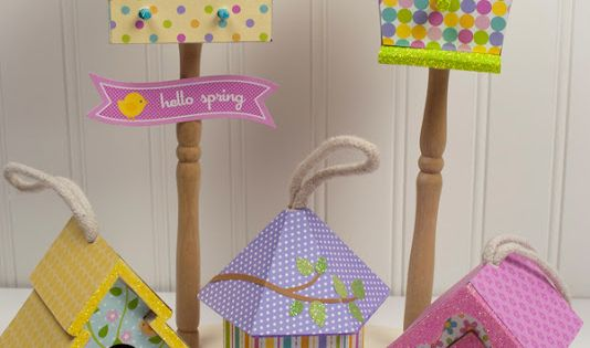 Decorated Birdhouses By Doodlebug Design Project