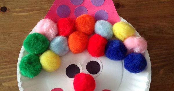 Paper Plate Clown Craft Circus