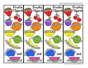 Bible Bookmarks Fruit Of The Spirit Bible Bookmark Bible For Kids