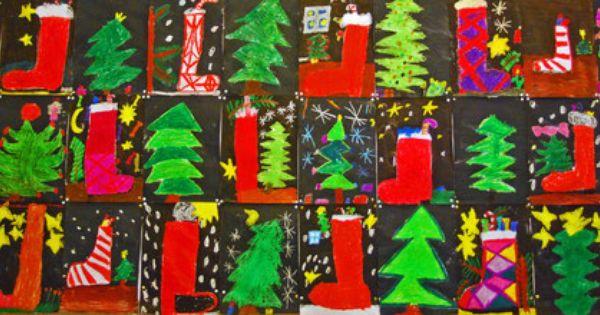 weihnachten kunstunterricht grundschule anke kremer. Black Bedroom Furniture Sets. Home Design Ideas