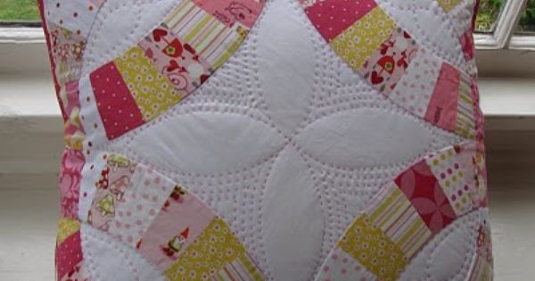 My First Quilted Project Double Wedding Ring Quilt Quilting Projects Wedding Ring Quilt