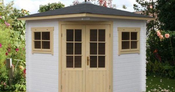 5 eck gartenhaus modell sunny a. Black Bedroom Furniture Sets. Home Design Ideas