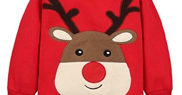 Bebe Sudaderas Navidad Camisetas De Manga Larga Sweatshirt Arriba