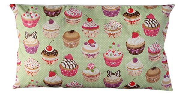Cupcakes funda cojin tela verde funda cojin cojin for Decoracion hogar verde