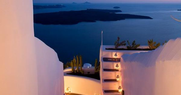 Lantern Stairs, Santorini, Greece. This place looks so beautiful I have always