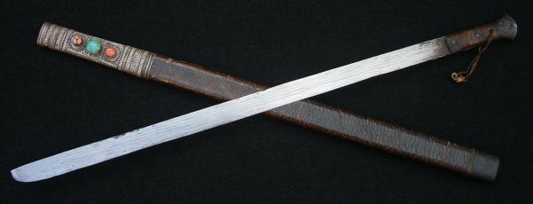 tibetan dpa 39 dam back sword overall length 86 cm 34 inch blade length 74 cm weight. Black Bedroom Furniture Sets. Home Design Ideas