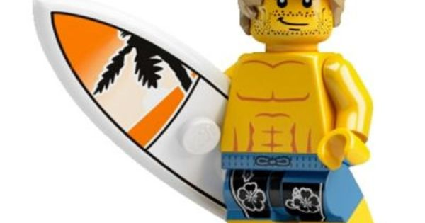 LEGO SURFBOARD PINK AND WHITE FOR MINIFIGURE NEW