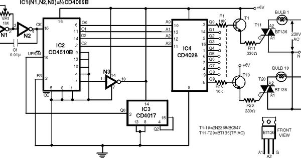 automatic dual output display  circuit diagram