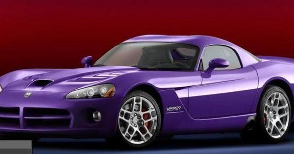 Purple Dodge Viper Best Car Ever Made Dream Garage B