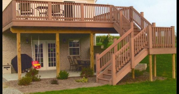 Two Story Decks Designs Story Deck Designs Pictures Of