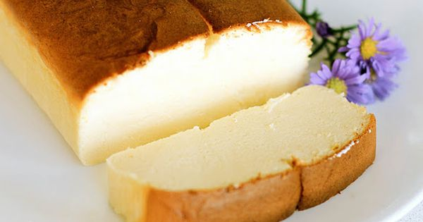 Japanese Cheesecake - looks like pound cake, tastes like (and flour less