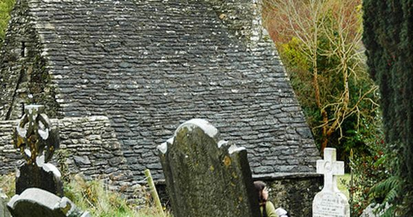 St. Kevin's Kitchen ~ Glendalough, Wicklow, Ireland ~ is a nave-and-chancel church
