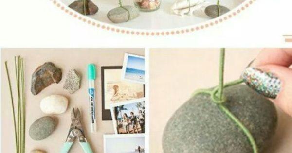 fotost nder aus steinen und draht hochzeitsdeko pinterest. Black Bedroom Furniture Sets. Home Design Ideas