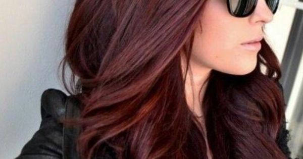 Chocolate Cherry Hair Color Pictures Long Hair Styles
