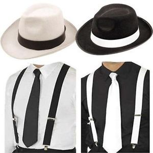 ADULTS GANGSTER COSTUME MENS DELUXE 1920S 20S GATSBY BUGSY MALONE AL CAPONE SUIT