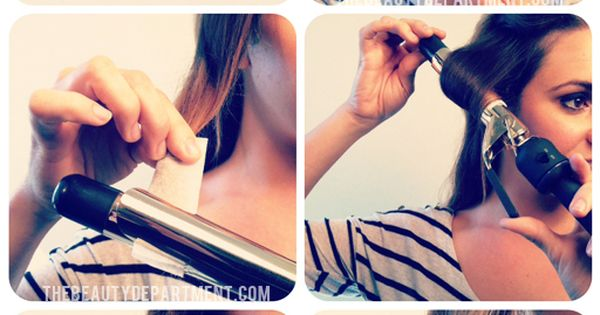 Curling iron tip: Paper Towel Heat Protectant Hair Tip