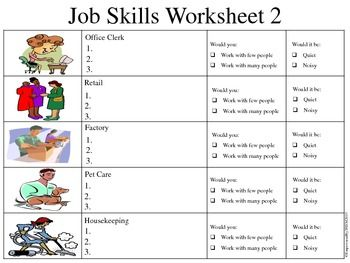 Job Skills Assessments Life Skills Lessons Life Skills Classroom Life Skills Activities