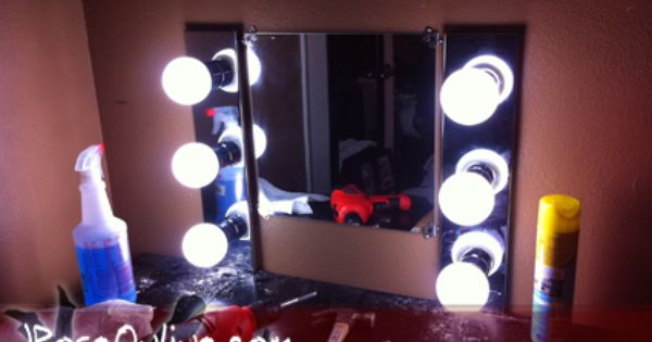 DIY vanity Mirror, under 100USD ! Items needed for this project: - Mirror - Vanity Light Bars ...