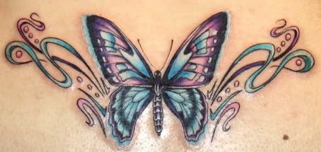 beautiful butterfly tattoos for women would do butterfly with cancer awareness ribbon on. Black Bedroom Furniture Sets. Home Design Ideas