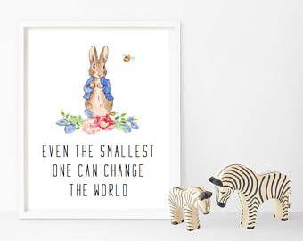 Peter Rabbit Nursery Prints Baby Shower