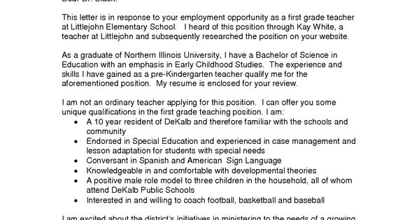 education cover letters for resumes