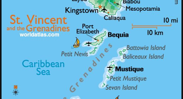 Map Of America And Caribbean Islands