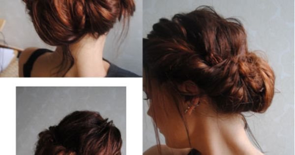 The messy bun. love this hair style