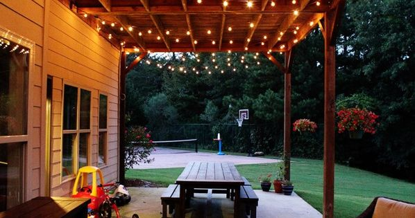 Lights Hung Under Deck Area Great For Lighting On Summer