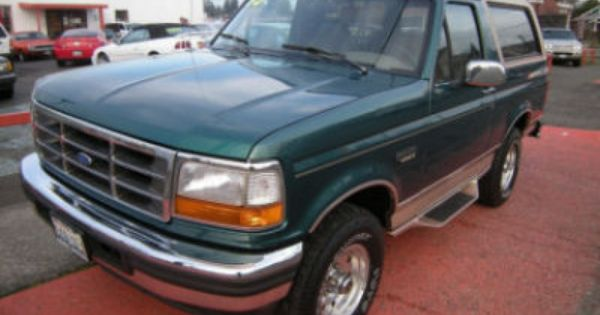 Used Ford Bronco >> 1996 Ford Bronco Eddie Bauer Pacific Green Named The Frog