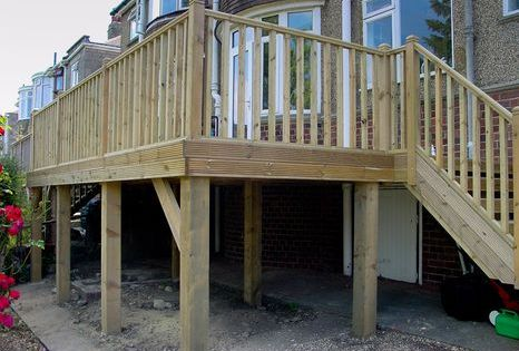 How To Build Raised Decking On Stilts Google Search Building A