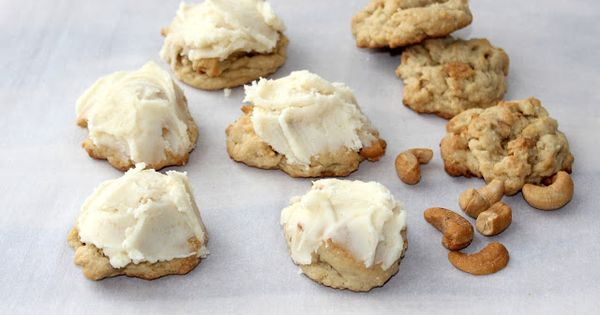 hint of honey: Salted Cashew Cookies with Brown Butter Frosting ...
