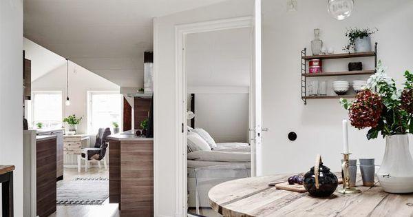 Tico sueco de 60 m que dan para mucho decoracion - Salon piso pequeno ...