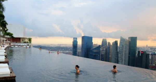 150-Meter Outdoor Infinity Pool ~ Marina Bay Sands Luxury Hotel ~ Singapore