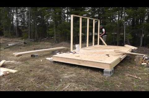 Wall tent platform build backyard cabin pinterest for Tent platform construction