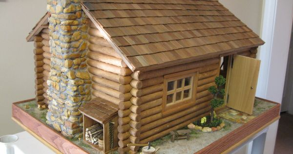 Miniature Log Cabin Someday I M Going To Make One Of