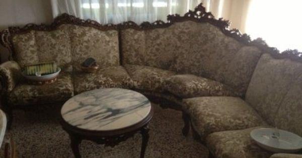 Salotto in legno intarsiato mobili da soggiorno for Mobili usati gratuiti