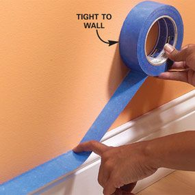 Using Masking Tape When Painting The Family Handyman Painting Tips Painters Tape Home Improvement