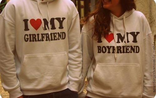 So freaking cute. Boyfriend & Girlfriend sweat shirts. So going to get