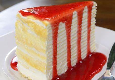 Crêpes-Kuchen mit Erdbeersoße | Rezepte | Pinterest ...