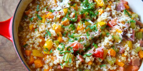 Love ham barley soup then you ll love this risotto for Ham risotto recipe